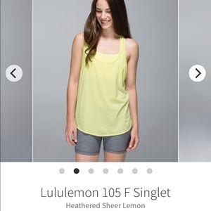 """Lululemon """"105 F Singlet Tank"""""""